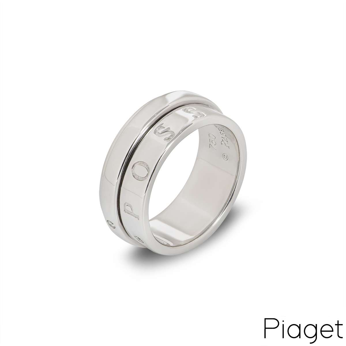 Piaget 18k White Gold Diamond Eccentric Possession Ring B&P G34PX253